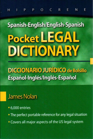 Spanish Pocket Dictionary- Pocket Legal Dictionary