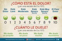 Pain Level Poster- Pain Chart in Spanish