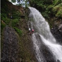 Waterfall Rappel Tour on Spanish Immersion