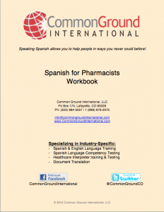 Spanish for Pharmacists workbook