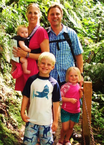 A family hike in Costa Rica