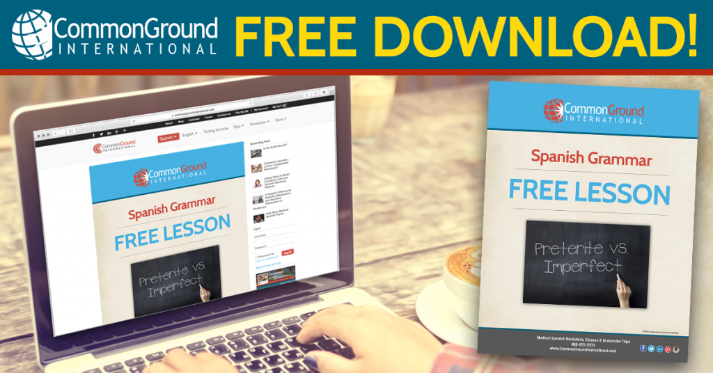 Common Ground FB ad_FreeLesson-PreteriteVSImperfect