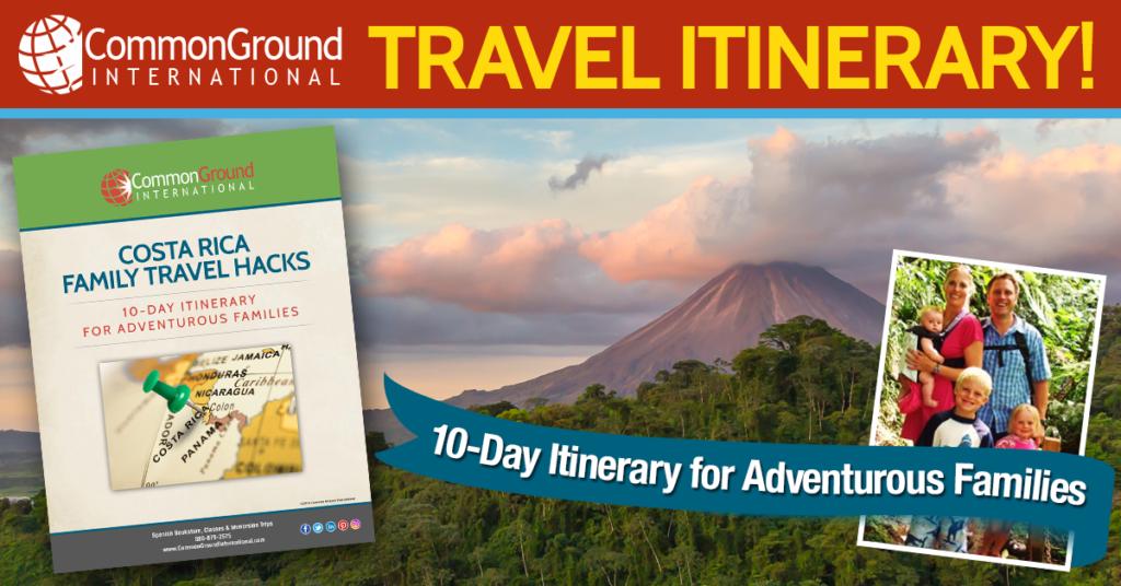 Costa Rica Vacation 10 day adventure itinerary