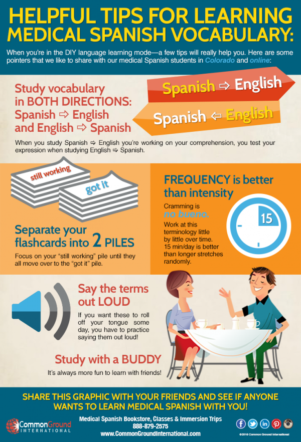 5 Tips for Learning Medical Spanish Vocabulary