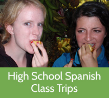 high school Spanish immersion in Costa Rica: class trips for Spanish students