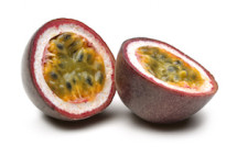 passion fruit cut in half and ready to eat