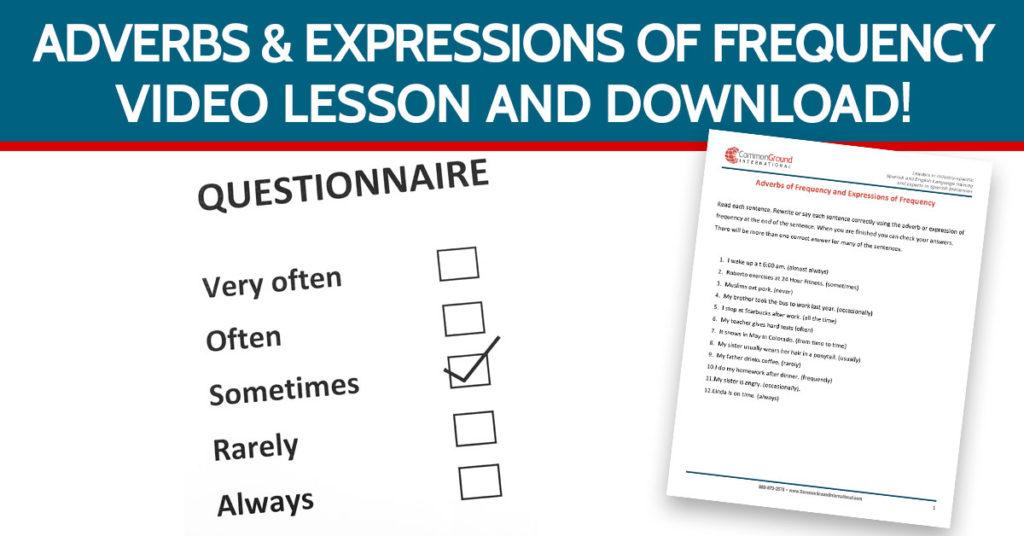 Aprender Inglés Adverbios Y Expresiones De Frecuencia En Inglés