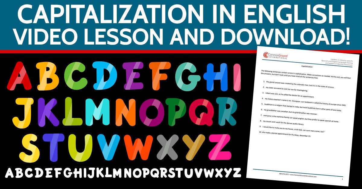 capitalization-english-common-ground-international