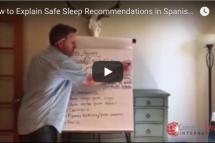 Explaining Safe Sleep Recommendations in Spanish