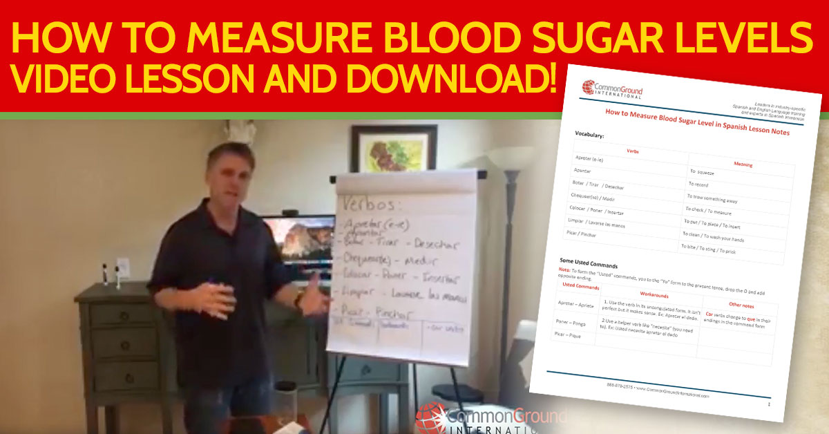 How to Measure Blood Sugar Level in Spanish