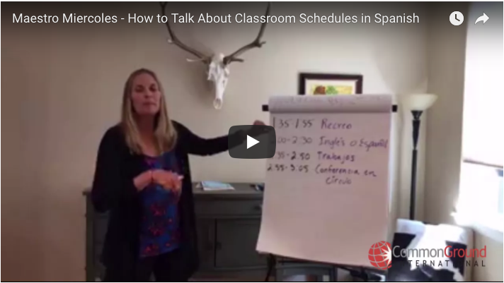 Maestro Miercoles  – How to Talk About Classroom Schedules in Spanish
