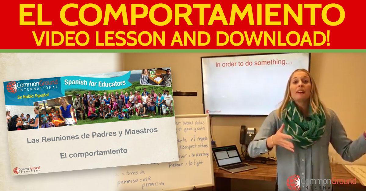 Spanish for Educators – Talking About Student Behavior in Spanish