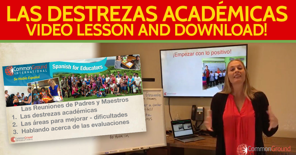 Spanish for Educators – Talking About Academic Strengths in Spanish