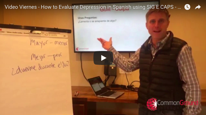 Video Viernes – How to Evaluate Depression in Spanish using SIG E CAPS