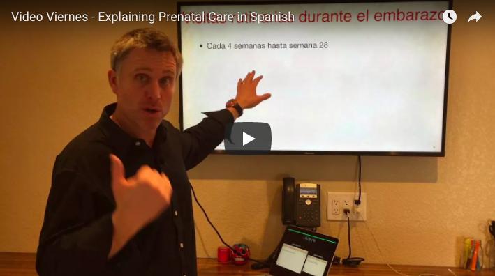 Video Viernes – Explaining Prenatal Care in Spanish