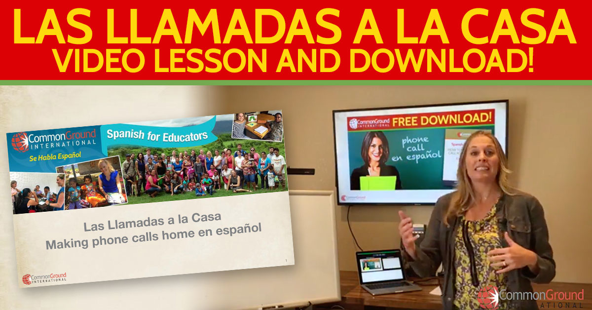 Spanish for Educators – Making Phone Calls Home in Spanish