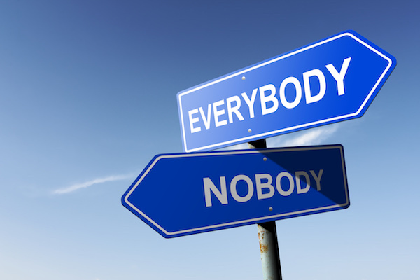 indefinite pronouns someone everybody nobody