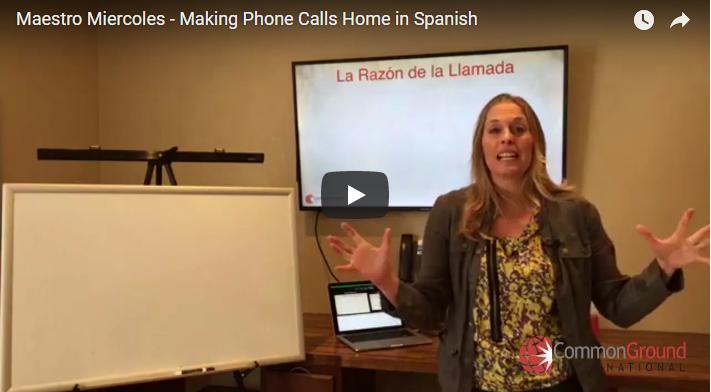 Maestro Miércoles – Making Phone Calls Home in Spanish