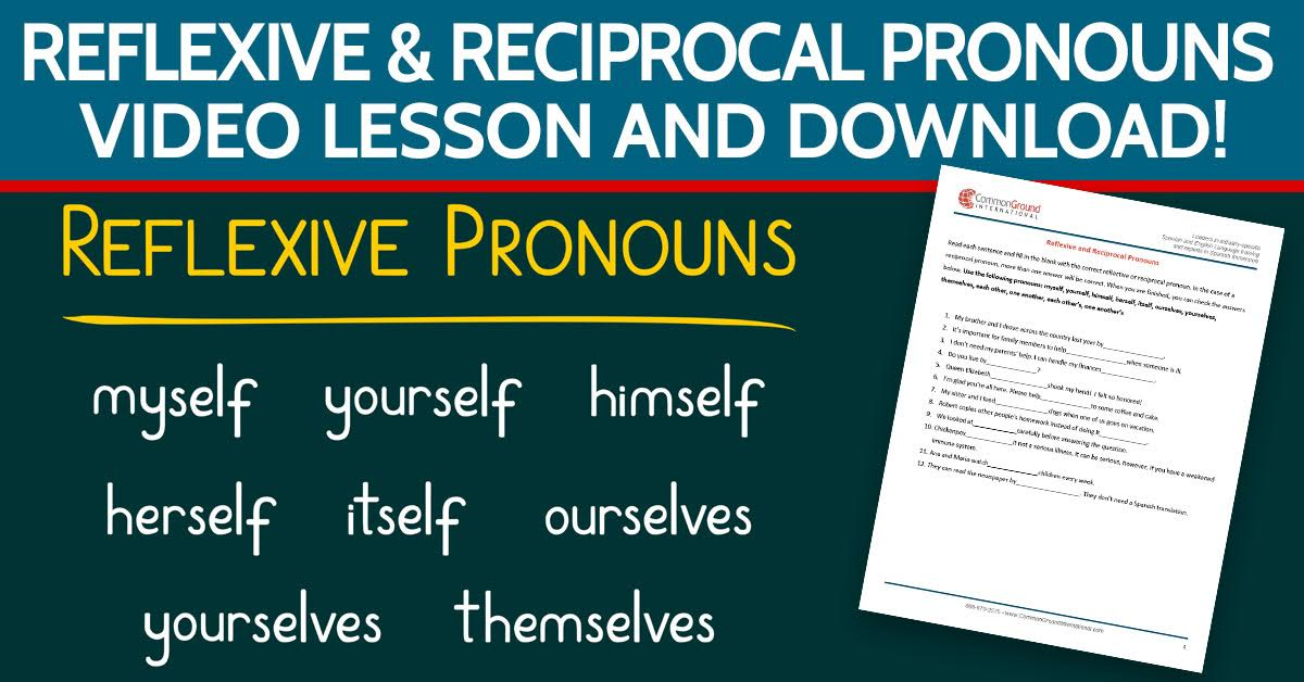 Reflexive-and-Reciprocal-Pronouns–in-English