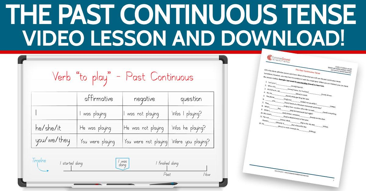 The-Past-Continuous-Tense-In-English