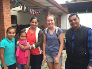 host families and community service in Costa Rica