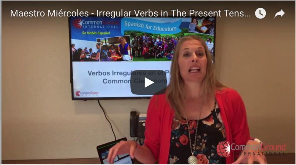 Maestro Miércoles – Irregular Verbs in The Present Tense in Spanish