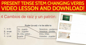 Present Tense Stem Changing Verbs in Spanish for healthcare context