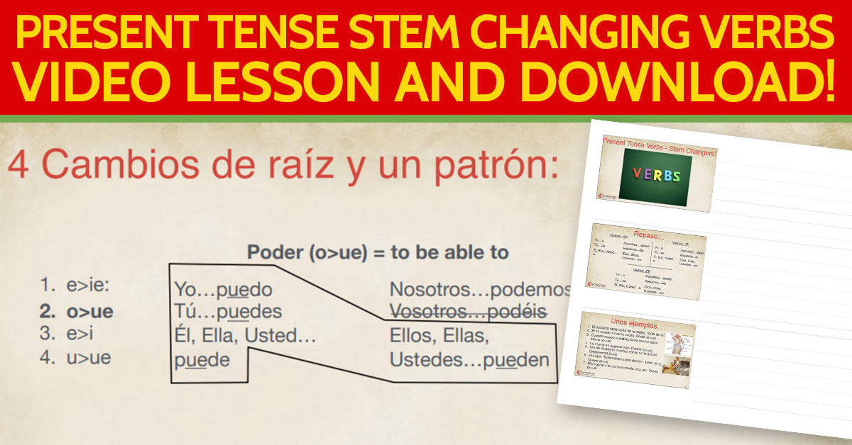 Learn Medical Spanish –  Present Tense Stem Changing Verbs in Spanish for healthcare context