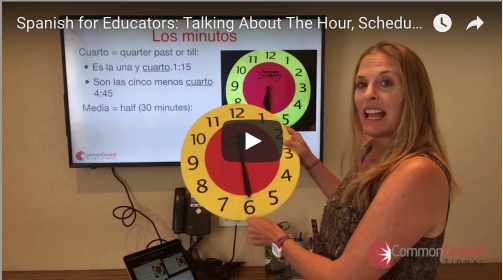 Spanish for Educators: School Schedules and Subjects in Spanish