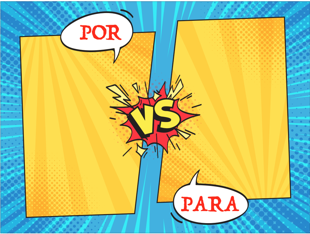 Medical Spanish uses of Por in Spanish and Para in Spanish