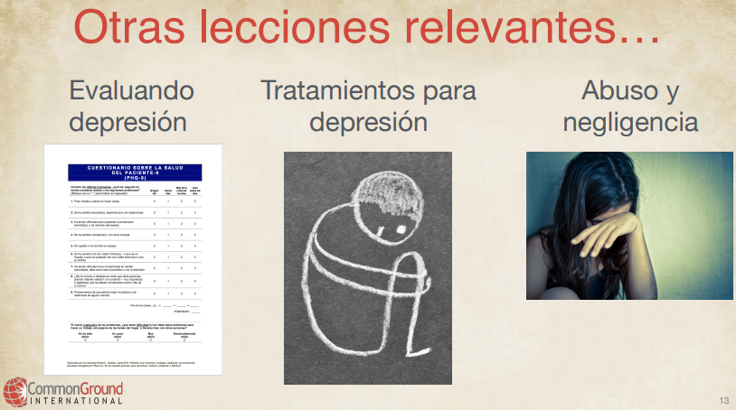 Other mental health in Spanish lessons