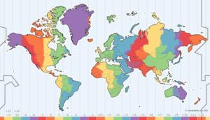 Time zones - Zonas horarias